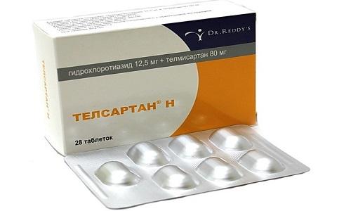 Телсартан-Н - комбинированое средство, явлюящееся ингибитором ангиотензина и диуретиком