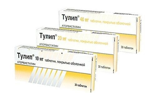 Тулип подавляет выработку холестерола структурами печени, что позволяет понизить его уровень в плазме крови