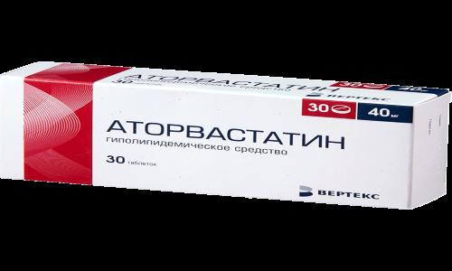 Вещество аторвастатин стабилизирует уровень общего холестерина, триглицеридов и липопротеинов низкой плотности