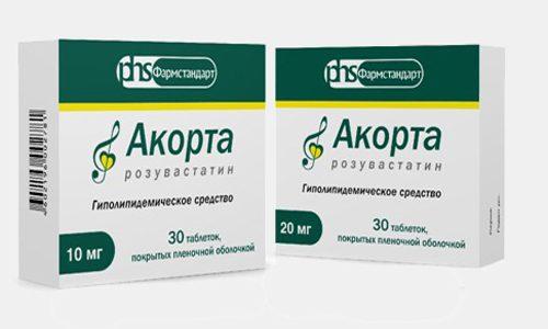 Терапевтическое действие препарата Акорта направлено на нормализацию синтеза холестерина в организме