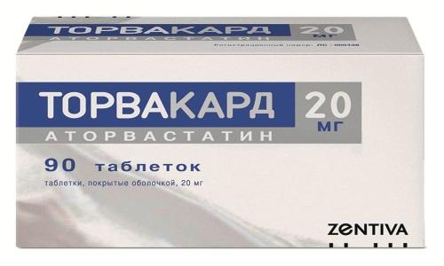 Гиполипидемическое средство Торвакард 20 применяется для регуляции уровня холестерина и лечения патологий сердечно-сосудистой системы у пациентов из группы риска