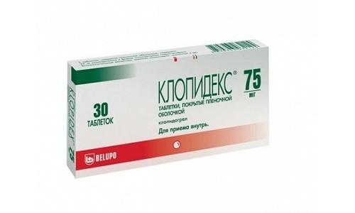 Чтобы улучшить текучесть крови, назначают прием антиагрегантных препаратов, к которым относят Клопидекс