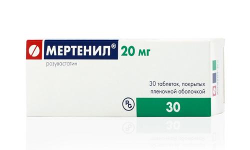 Препарат Мертенил 20 помогает снизить уровень холестерина
