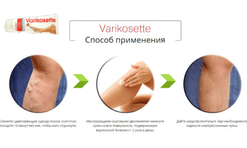 Varikosette нужно наносить только на чистую и сухую кожу
