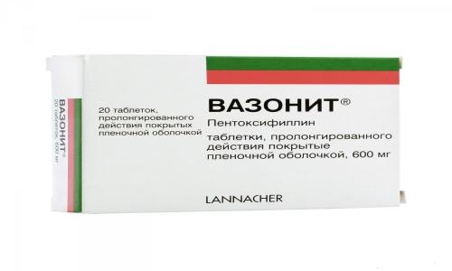 Вазонит 600 применяется для восстановления кровообращения