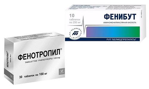 Фенотропил и Фенибут представляют собой лекарственные средства ноотропного воздействия