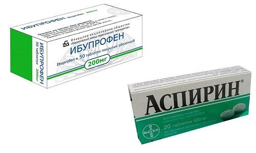 Ибупрофен и Аспирин широко используются во всех отраслях медицины в качестве жаропонижающего и противовоспалительного средства
