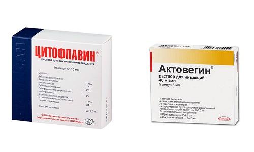Цитофлавин и Актовегин применяют для комплексной терапии патологий центральной нервной системы