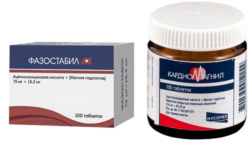 Фазостабил или Кардиомагнил применяются при риске образования тромбов у пациентов с нарушениями состава крови