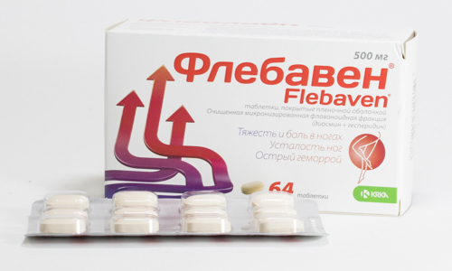 Флебавен применяют по 500 мг 2 раза в день для лечения варикоза, курс лечения продолжается 2 месяца и больше