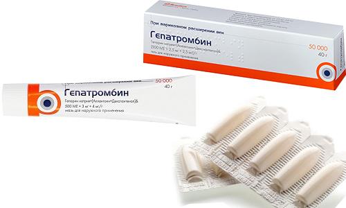 Гепатромбин имеет 3 формы выпуска - мазь, гель и суппозитории для ректального введения