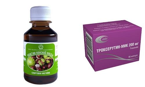 Троксерутин и конский каштан часто включаются в курс комплексной терапии вен