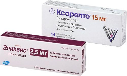 Эликвис или Ксарелто применяются для профилактики тромбообразования в кровеносных сосудах