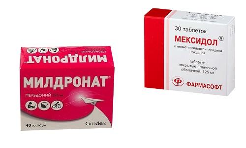 Мексидол и Милдронат представляют собой препараты для лечения нарушений кровоснабжения головного мозга