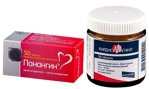Панангин и Кардиомагнил принимают для нормализации кровообращения и улучшения функций сердца