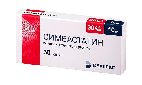 Симвастатин считается представителем 2 поколения статинов, он уменьшает содержание холестерина в крови на 30-38%