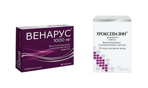 Венарус или Троксевазин назначается при заболеваниях сосудистой системы для улучшения ее тонуса и профилактики развития осложнений