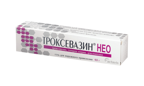 Троксевазин Нео содержит пропиленгликоль, обладающий вяжущими свойствами, и консерванты, устраняющие бактерии